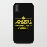 pun iPhone & iPod Cases featuring Intergalactic Pun by Ninja Klee