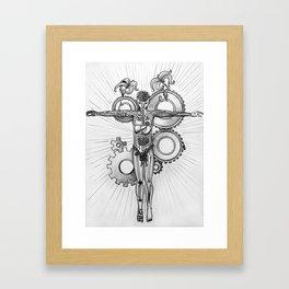 Between Man And Machine Framed Art Print