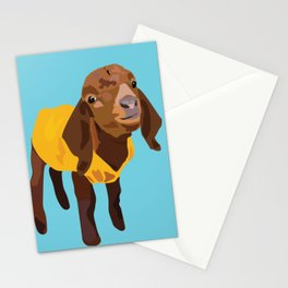 Goaty McGoatface - yellow Stationery Cards