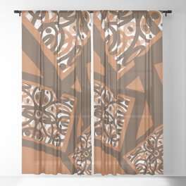 More Spice Must Flow DP170117c Sheer Curtain
