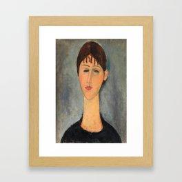 Portrait of Madame Zborowska by Amedeo Modigliani, 1918 Framed Art Print