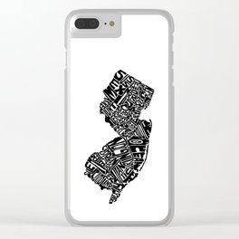 Typographic New Jersey Clear iPhone Case