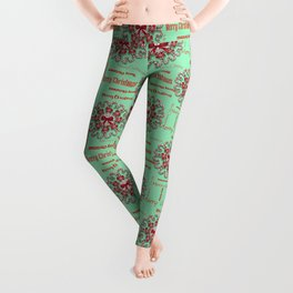 Candy Cane Wreath Leggings