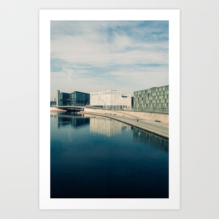 ALONG THE SPREE / Berlin, Germany Art Print
