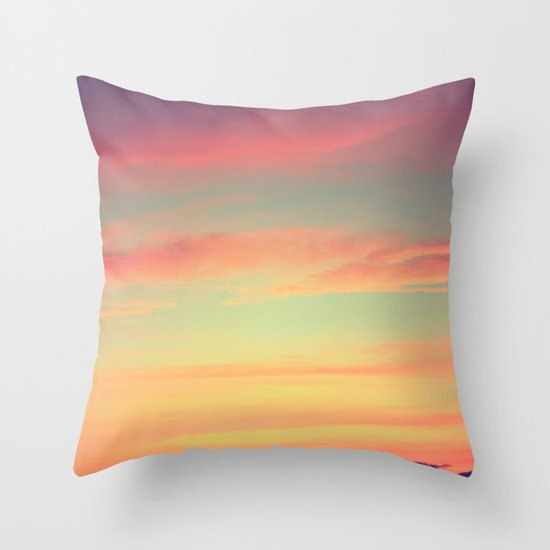 When Rainbows Go To Bed Throw Pillow