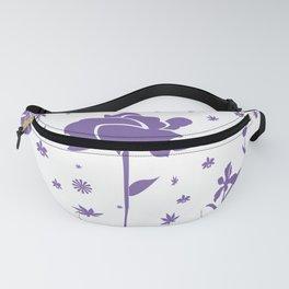 Floral Burst - Purple Fanny Pack