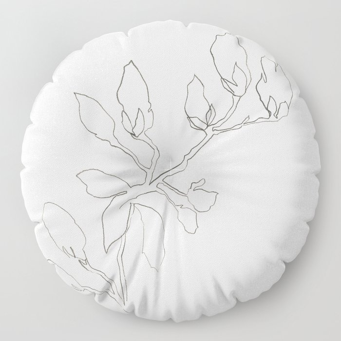 Floral Study No. 3 Floor Pillow
