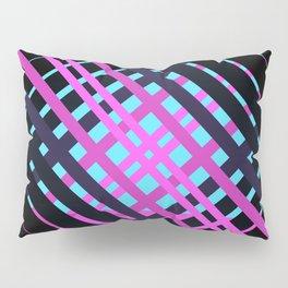 Geometric pop pink black rock Pillow Sham