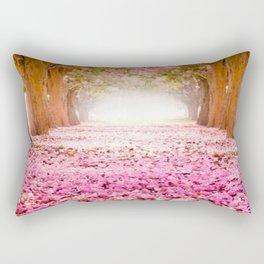 Romantic Flower Tunnel Rectangular Pillow