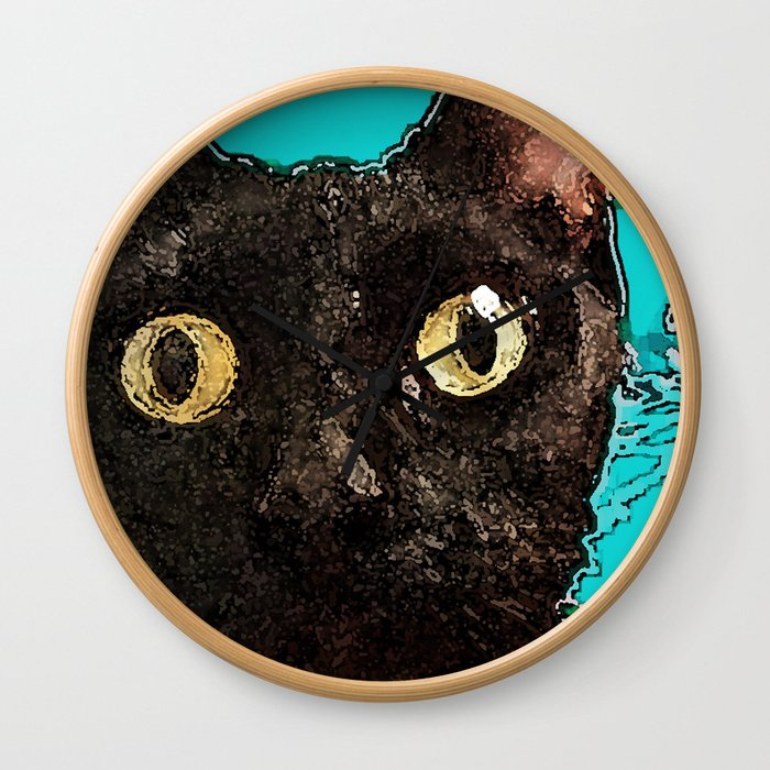Kismet Kitty Wall Clock