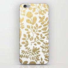 Botanica - gold iPhone Skin