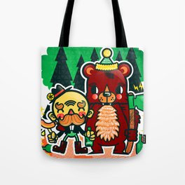 Lumberjack and Friend Tote Bag
