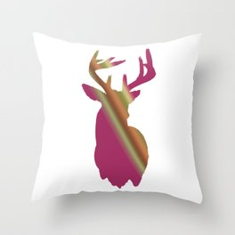 Girly buck Throw Pillow