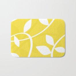Vine in Yellow by Friztin Bath Mat