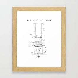 AeroPress - Original Patent/Blueprint Artwork  Framed Art Print
