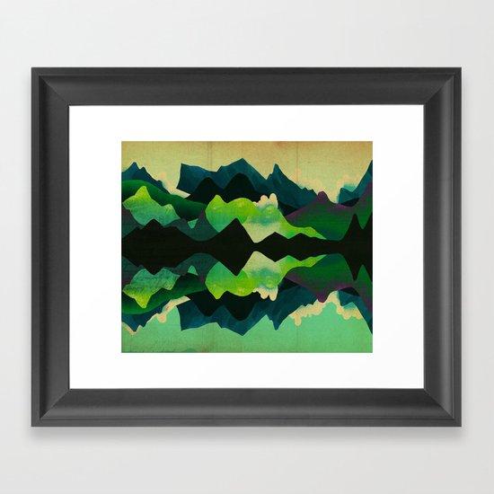 Mountain Reflections Framed Art Print