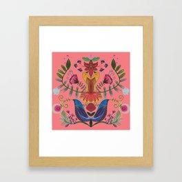 harmonie in salmon Framed Art Print