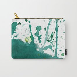 emerald green splash Carry-All Pouch
