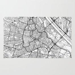 Vienna Map White Rug