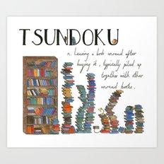 Tsundoku Art Print