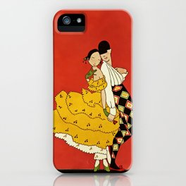 """Harlequin Dancer"" by Annie Fish iPhone Case"