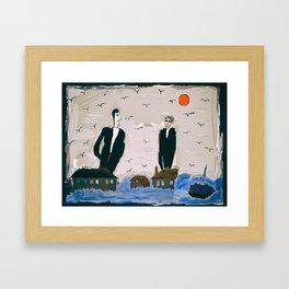 People as birds Framed Art Print