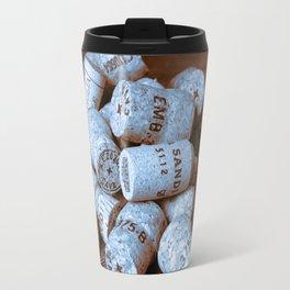 BLUE CHAMPAGNE CORK Travel Mug