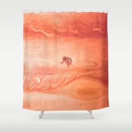 Gone Astronaut Shower Curtain