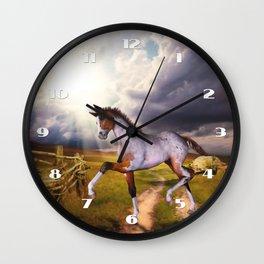 The Little Foal Wall Clock