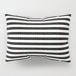 Number 3- count,math,arithmetic,calculation,digit,numerical,child,school Pillow Sham
