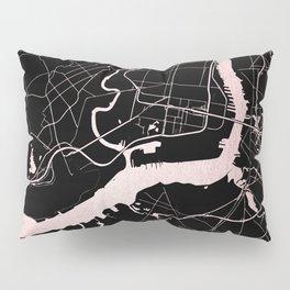 Philadelphia - Black and Rose Gold Pillow Sham