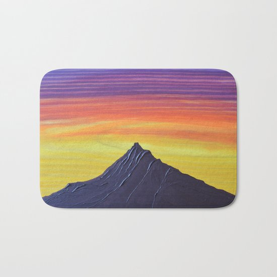 Early Bird Gets the Worm, Pacific Northwest Mountain Series Bath Mat