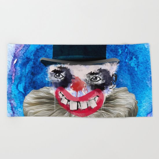 clown pa Beach Towel