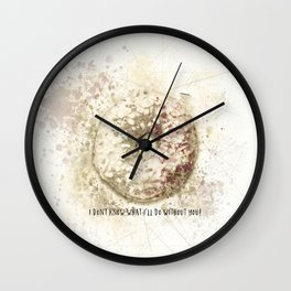 I Donut Know What I'll Do Without You Wall Clock