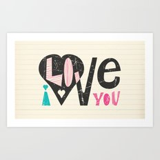 Love Note Art Print