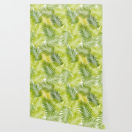 Palm leaf silhouettes seamless pattern. Tropical leaves. Wallpaper