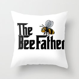 The BeeFather Throw Pillow