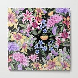 FLORAL GARDEN 3 #floral #flowers #vintage Metal Print