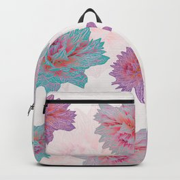 A garden full of blossoming Dahlias Backpack