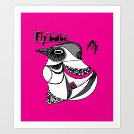 Fly Babe Art Print