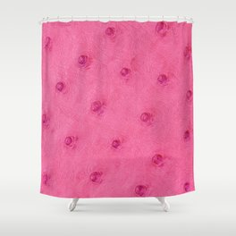 Ostrich leather effect (pink) Shower Curtain
