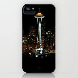 Seattle Skyline at Night iPhone Case