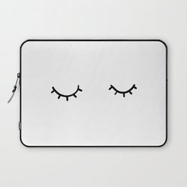 Closed eyes, just eyelashes Laptop Sleeve
