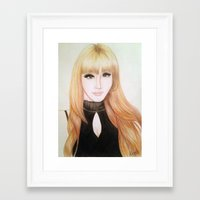 2ne1 Framed Art Prints featuring Park Bom (2NE1) by Hileeery