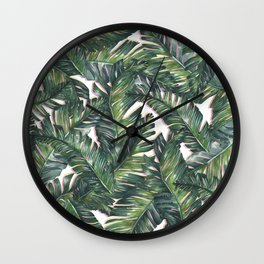 banana leaf 3 Wall Clock