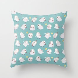 Baby Barn Owls Throw Pillow