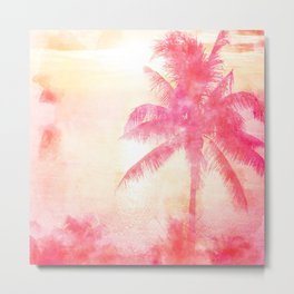 Summer Sea, Sunset at Palm Beach Metal Print