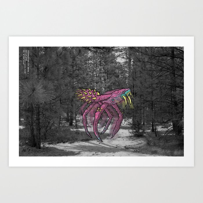 Unseen Monsters of Mount Shasta - Sqwizick Pinch Art Print