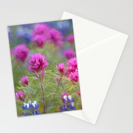 California Wildflowers natural pattern 2 Stationery Cards