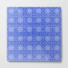 Sapphire Blue Star Flower Metal Print